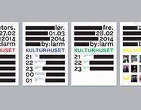 Posters for Kulturhuset i Oslo