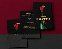 Three Black Vertical Business Cards PSD Mockup