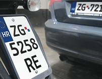 Croatian car plates proposal