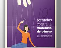 Poster Jornadas contra la violencia de género
