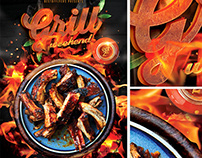 Grill Weekend PSD Flyer Template