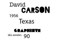 Couverture dossier biographique David Carson