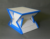 Collapsible, Cardboard Stool