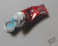 A toothpaste tube - drawing