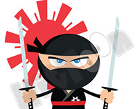 Ninja Cartoon Mascot Characters