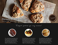 Web Design: Pastries from Home