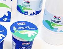KiM - milk/yoghurt packaging