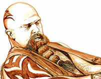 Kerry King Coffee paint.
