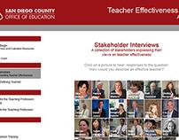 Teacher Effectiveness - San Diego County Office of Ed