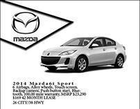 Mazda Newspaper Ad