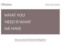 Minimo Agency Theme