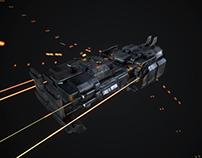 LowPoly Starship_01