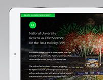 National University // Vision Magazine for iPad