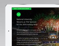 National University // Vision Magazine for iPad