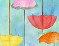 Raining Paradox Watercolor