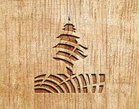 Vakaru medienos centras logo + logo guides