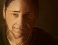 My Mom Portrait.. Finger Painting on a iPhone 4