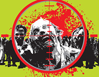 Zombie T-shirt Imprint
