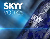 SKYY Vodka bottle design