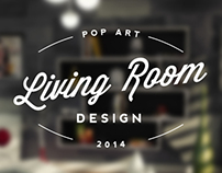 Pop Art Living Room - Archviz