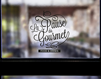 la pause du gourmet - logo design