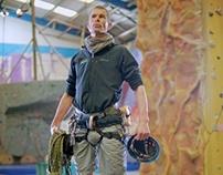 Matthew, instructor at 'The Reach' climbing wall
