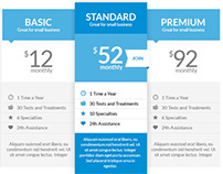 Free Clinico Pricing Tables 2in1 (PSD)