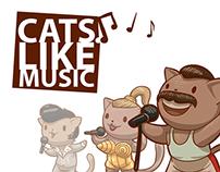 Cats like music