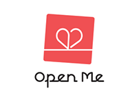 Open Me Greeting Card Logo