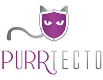 Purrtector Logo Design