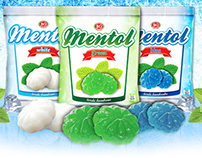 Hard candy mint package design