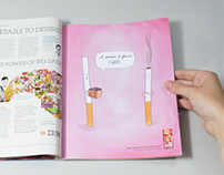 Nicorette Gum Print Campaign