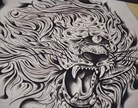 LION DRAW STUDY