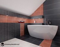 11m2 Bathroom in Pekowice with Tubądzin Lido Tiles