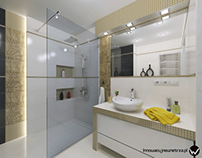 5m2 Bathroom in Cracow with Paradyż Ricoletta Tiles