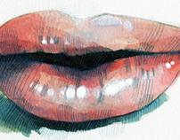 The lips for Milk X Magazine