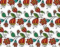 Estampa Doodle Floral