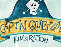Capt'n Quetzal Lettering