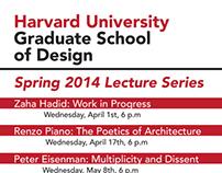 Harvard Graduate School of Design Lecture Series Poster