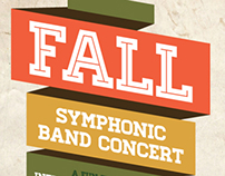 Fall Symphonic Band Concert Posters