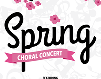 Spring Choral Concert Posters