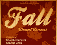Fall Choral Concert Posters