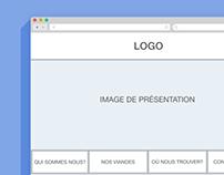 Foodtruck's Website Wireframe