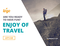 Travel - Vacation Web Ad Marketing Banners