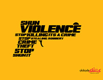 A Wallpaper against violence and killing