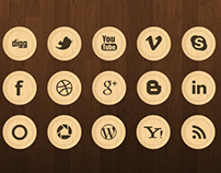 wooden icon chips