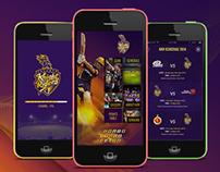 Kolkata Knight Riders (KKR) Mobile App Concept