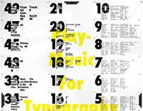 Play Music for Typography Poster