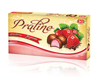 "Packing design for fondant chocolates ""Pralines"""