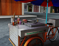 Realistic 3D Rendering : Thai Ice cream Car